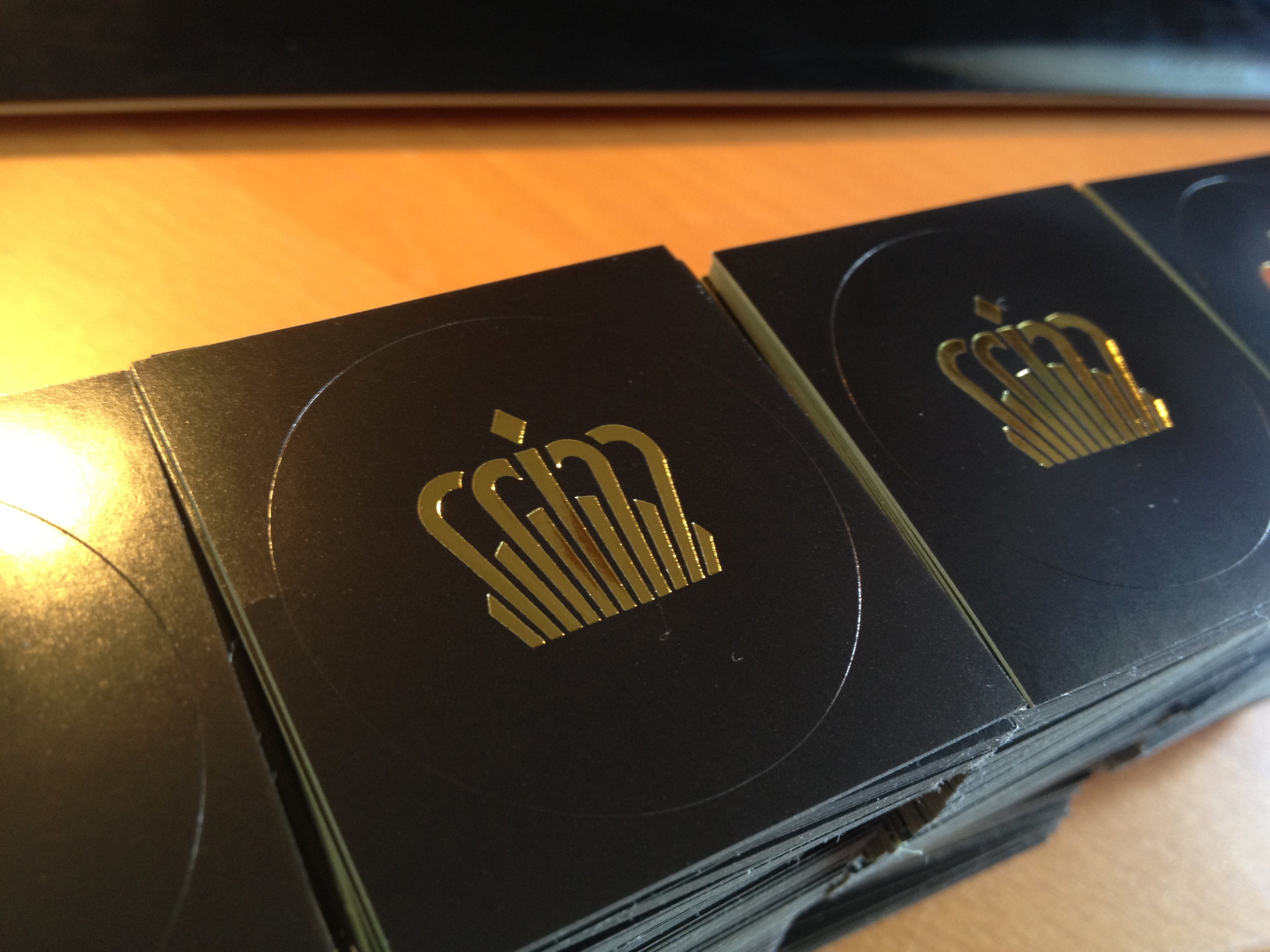 gold foil stickers