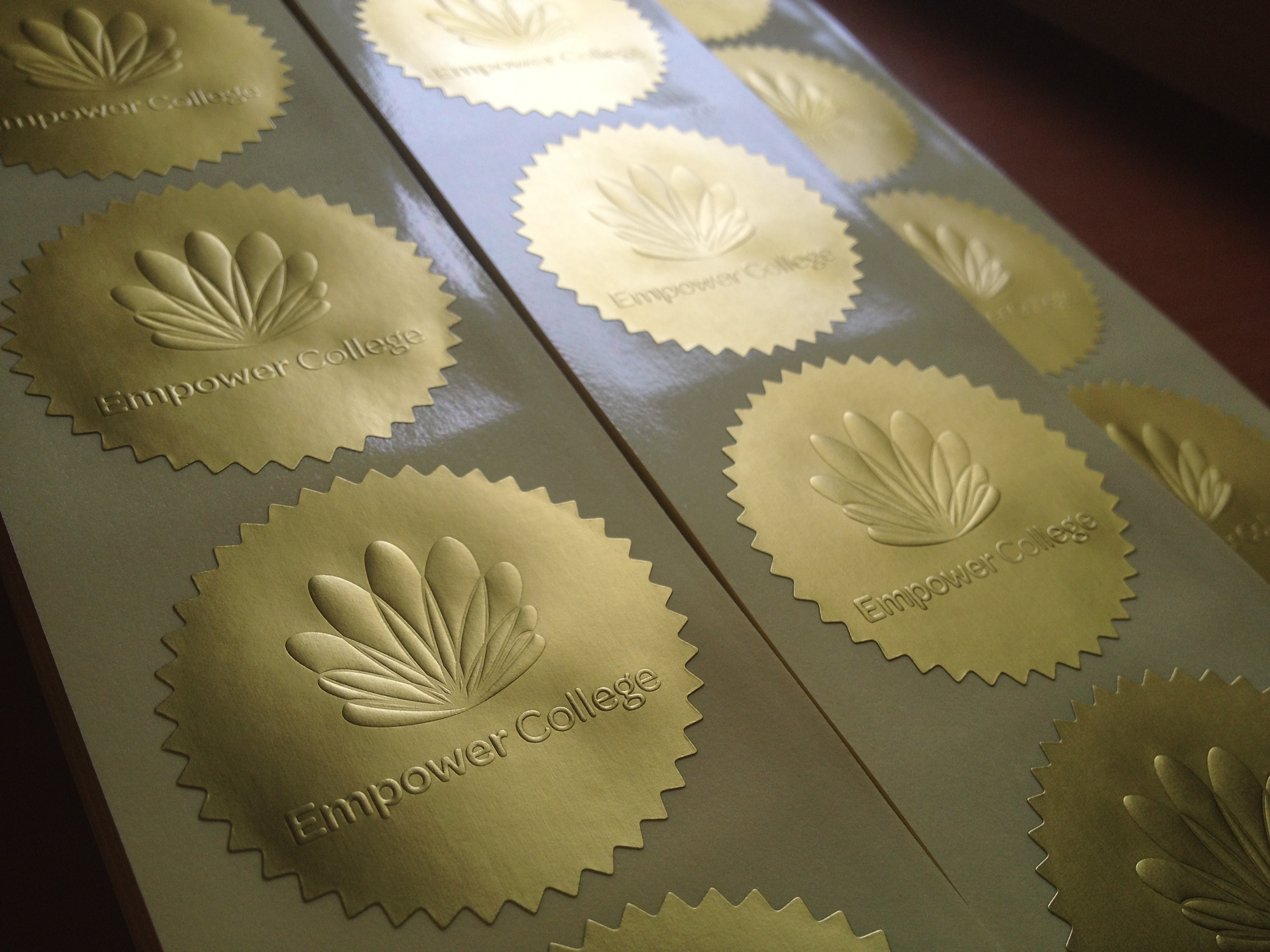 Embossed Stickers