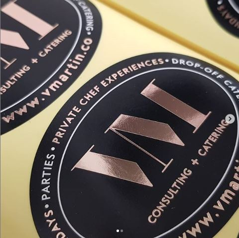 Rose gold foil stickers